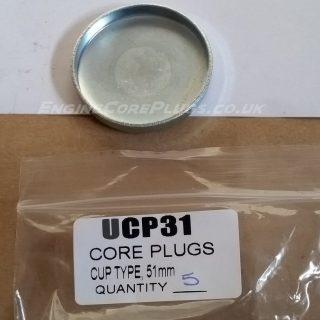 51mm cup type mild steel zinc plated automotive core plug