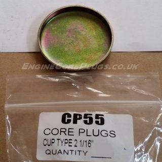 "2 1/16"" imperial cup type mild steel zinc plated automotive core plug"