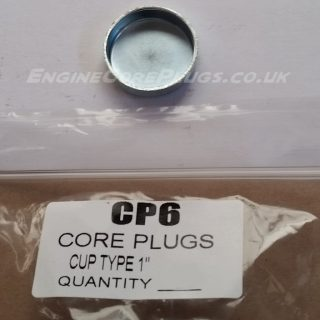 "1"" imperial cup type mild steel zinc plated automotive core plug"
