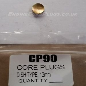 12mm metric dish type mild steel zinc plated automotive core plug