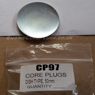50mm metric dish type mild steel zinc plated automotive core plug