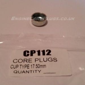 17.5mm cup type mild steel zinc plated automotive core plug