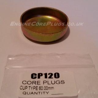 60mm cup type mild steel zinc plated automotive core plug