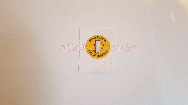 17mm small engine block and cylinder head heat temperature sticker